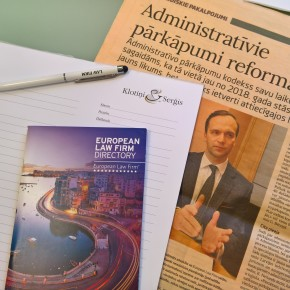 KLOTINI SERGIS managing partner Ivo Klotins in an interview to Daily Business on  reforms of the administrative offences